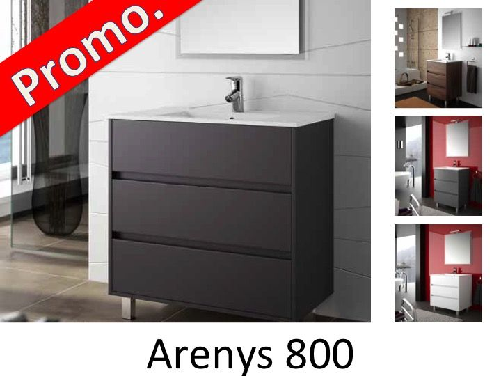 meubles lave mains robinetteries meuble sdb meuble de salle de bain 80 cm arenys 800 3. Black Bedroom Furniture Sets. Home Design Ideas