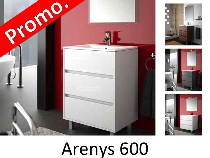 meubles lave mains robinetteries meuble sdb meuble de salle de bain 60 cm arenys 600 3. Black Bedroom Furniture Sets. Home Design Ideas