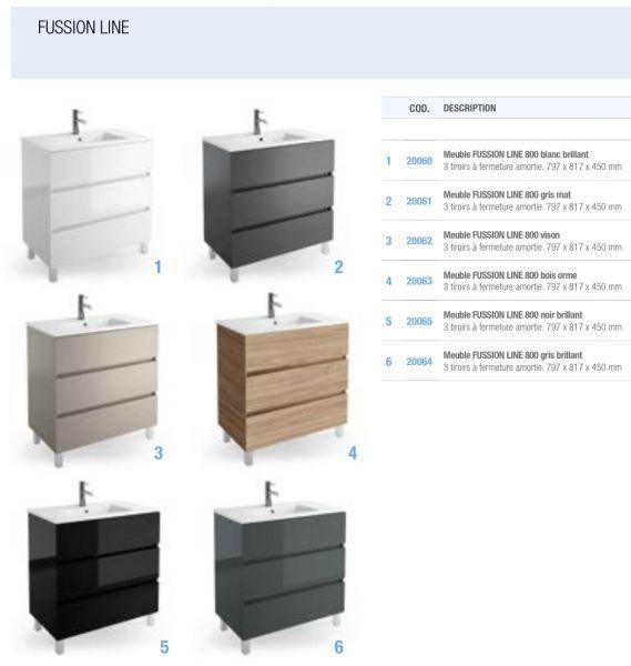Meubles lave mains robinetteries meubles sdb meuble de salle de bain sur - Meuble salle de bain 110 cm ...