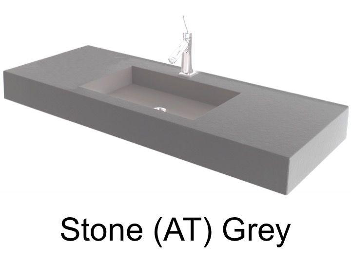 vasques largeur 60 plan vasque suspendue ou encastrer largeur 60 cm en r sine stone gris. Black Bedroom Furniture Sets. Home Design Ideas