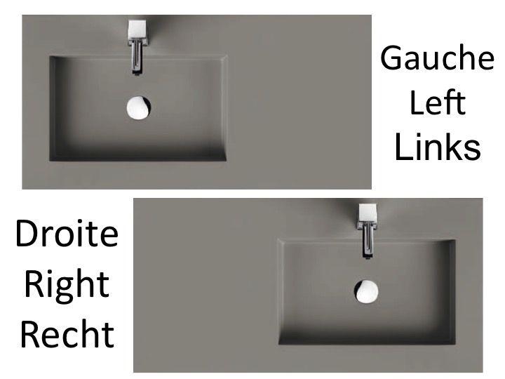 plan vasque suspendue ou encastrer dcentr gauche largeur 100 cm en - 100 Cm Plan Vasque