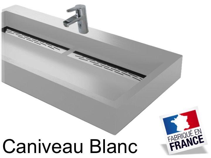 vasques largeur 100 vasque suspendue ou 224 poser largeur 100 cm en r 233 sine caniveau blanc