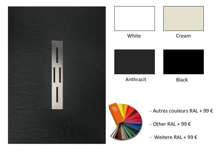 receveurs de douches longueur 110 receveur de douche 110 cm en r sine caniveau central. Black Bedroom Furniture Sets. Home Design Ideas