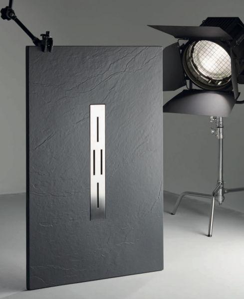 receveurs de douches longueur 120 receveur de douche 120 cm en r sine caniveau central. Black Bedroom Furniture Sets. Home Design Ideas
