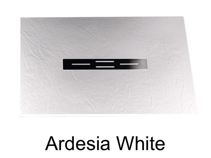 receveur de douche 150 cm en r sine caniveau central. Black Bedroom Furniture Sets. Home Design Ideas