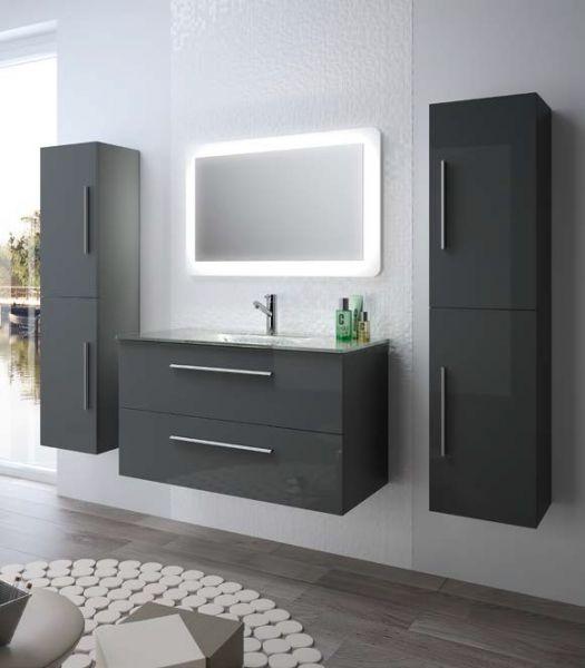 meubles lave mains robinetteries meuble sdb meuble de salle de bain 100 cm fussion creta