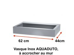 Vasque Inox AQUADUTO, à accrocher au mur, 700 x 440 mm. -  Delabie