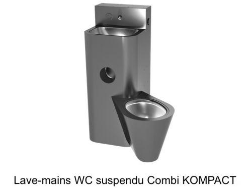 toilette wc suspendu avec lave mains int gr combi kompact delabie. Black Bedroom Furniture Sets. Home Design Ideas