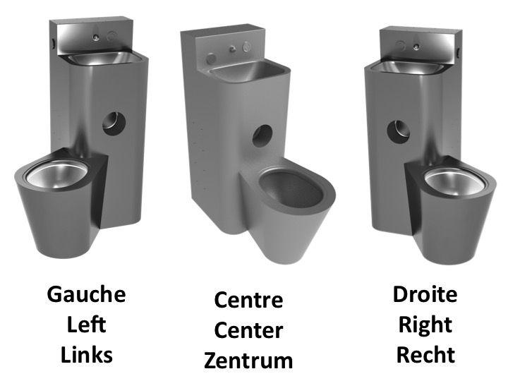 Meubles lave mains robinetteries lave mains toilette wc pose au sol avec - Toilette avec lave main integre castorama ...