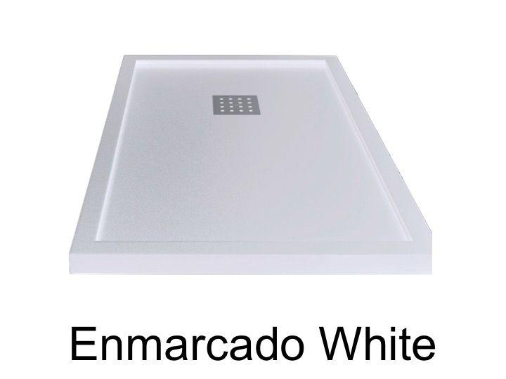 receveurs de douches longueur 120 receveur de douche 120 cm en r sine effet lisse sable. Black Bedroom Furniture Sets. Home Design Ideas