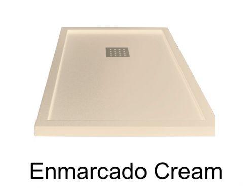 receveurs de douches longueur 130 receveur de douche 130 cm en r sine effet lisse sable. Black Bedroom Furniture Sets. Home Design Ideas