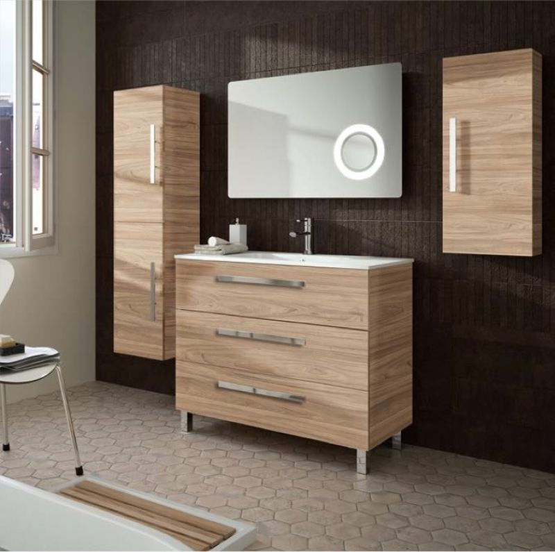 meubles lave mains robinetteries meuble sdb meuble de salle de bain sur pieds 100 cm. Black Bedroom Furniture Sets. Home Design Ideas