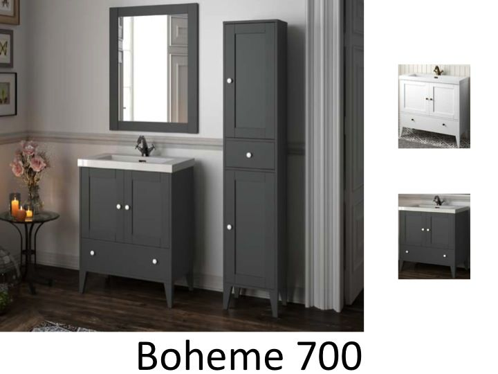 meubles lave mains robinetteries meuble sdb meuble de salle de bain sur pieds 70 cm boheme 700. Black Bedroom Furniture Sets. Home Design Ideas