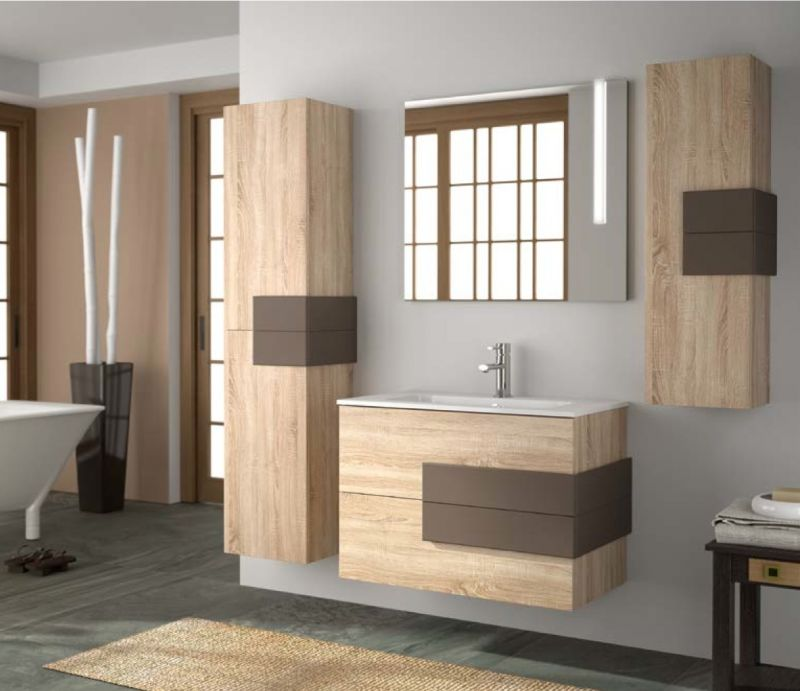 meuble suspendu bois salle de bain. Black Bedroom Furniture Sets. Home Design Ideas