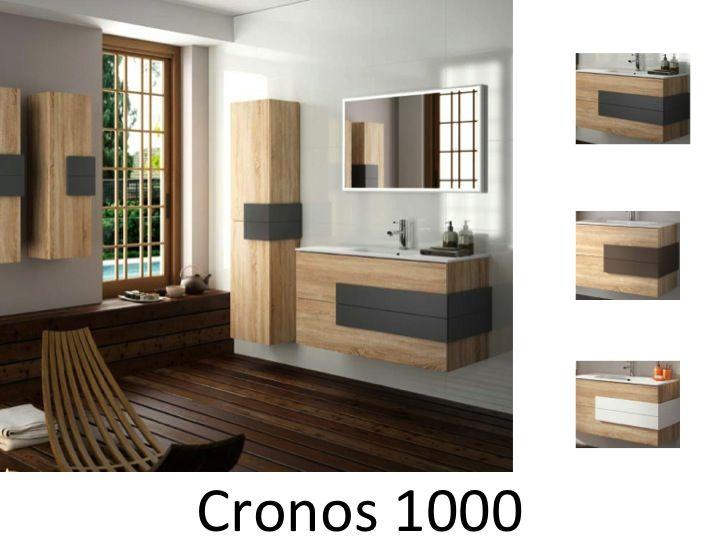 meuble salle de bain teck 100 cm