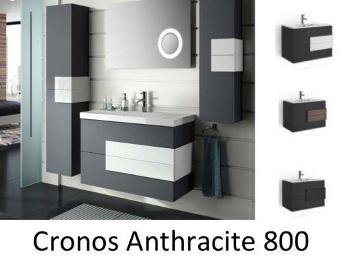 meubles lave mains robinetteries meuble sdb meuble de salle de bain suspendu 80 cm cronos. Black Bedroom Furniture Sets. Home Design Ideas