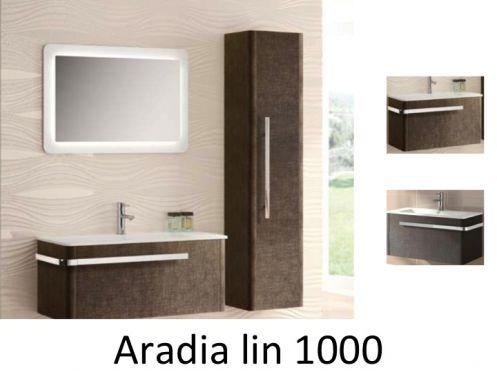 meubles lave mains robinetteries meuble sdb meuble de salle de bain suspendu 100 cm aradia. Black Bedroom Furniture Sets. Home Design Ideas