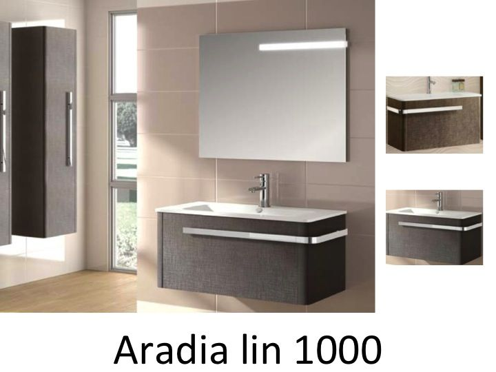 meubles lave mains robinetteries meuble sdb meuble de salle de bain suspendu 100 cm aradia. Black Bedroom Furniture Sets. Home Design Ideas