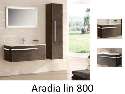 meubles lave mains robinetteries meuble sdb meuble de salle de bain suspendu 80 cm aradia 800. Black Bedroom Furniture Sets. Home Design Ideas