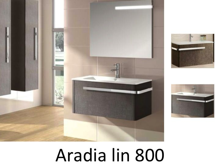 meubles lave mains robinetteries meuble sdb meuble de salle de bain suspendu 80 cm aradia. Black Bedroom Furniture Sets. Home Design Ideas