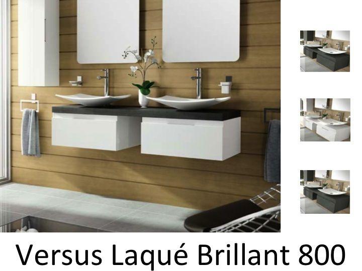 Meubles lave mains robinetteries meuble sdb meuble de salle de bain suspendu 180 cm versus - Meuble salle de bain 180 cm ...
