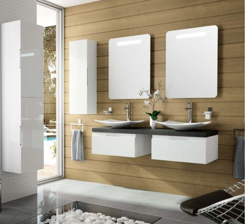 p 163336 3 meuble de salle de bain suspendu 180 cm versus 800 double   2 tiroirs Résultat Supérieur 15 Nouveau Meuble De Salle De Bain A Suspendre Galerie 2017 Uqw1