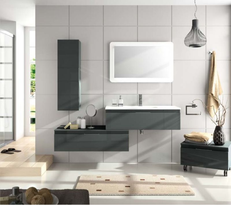 meubles lave mains robinetteries meuble sdb meuble de salle de bain suspendu 100 cm versus. Black Bedroom Furniture Sets. Home Design Ideas
