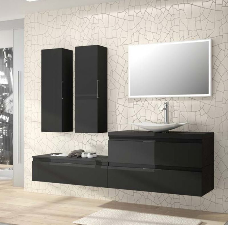 meubles lave mains robinetteries meuble sdb meuble de salle de bain suspendu 200 cm versus. Black Bedroom Furniture Sets. Home Design Ideas