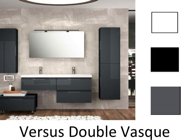 meubles lave mains robinetteries meuble sdb meuble de salle de bain suspendu 120 cm versus. Black Bedroom Furniture Sets. Home Design Ideas