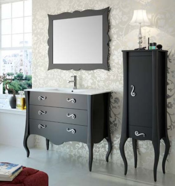 meubles lave mains robinetteries meuble sdb meuble de salle de bain sur pieds 80 cm maestro. Black Bedroom Furniture Sets. Home Design Ideas