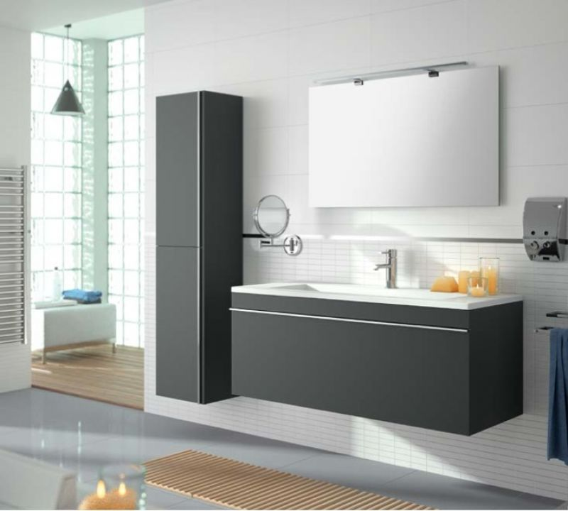 meubles lave mains robinetteries meuble sdb meuble de salle de bain suspendu 100 cm. Black Bedroom Furniture Sets. Home Design Ideas