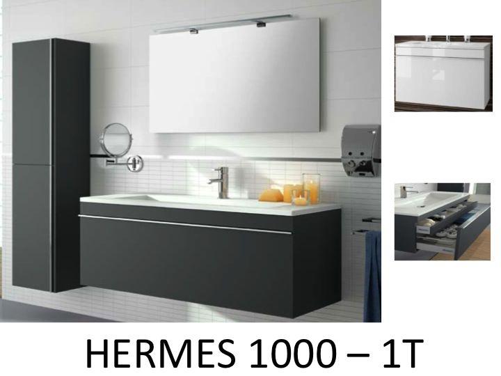 Meubles lave mains robinetteries meuble sdb meuble de salle de bain suspendu 100 cm for Meuble suspendu salle de bain design