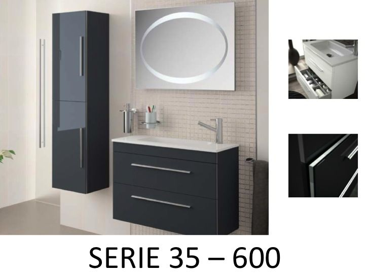 meubles lave mains robinetteries meuble sdb meuble de salle de bain suspendu 60 cm serie. Black Bedroom Furniture Sets. Home Design Ideas