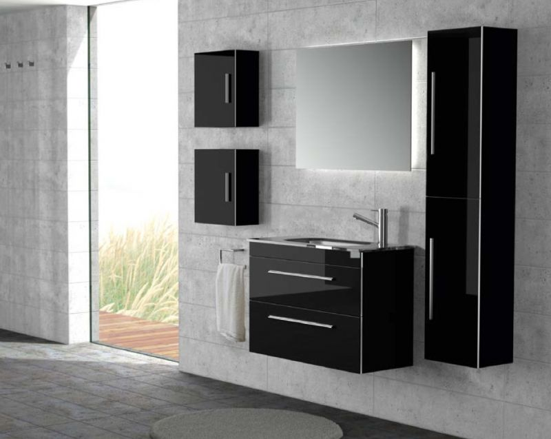 meubles lave mains robinetteries meuble sdb meuble de salle de bain suspendu 60 cm serie. Black Bedroom Furniture Sets. Home Design Ideas