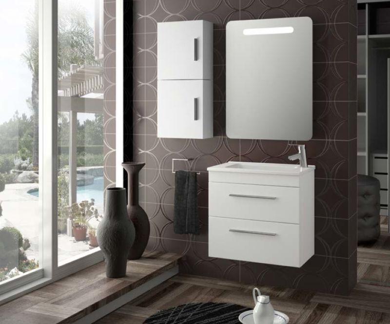 meubles lave mains robinetteries meuble sdb meuble de salle de bain suspendu 80 cm serie. Black Bedroom Furniture Sets. Home Design Ideas
