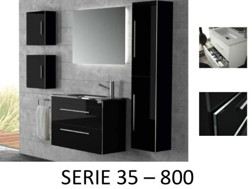 meubles lave mains robinetteries meuble sdb meuble de salle de bain suspendu 80 cm serie. Black Bedroom Furniture Sets. Home Design Ideas