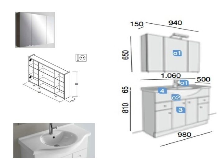 meubles lave mains robinetteries meuble sdb meuble de salle de bain 105 cm praga nilo 1050. Black Bedroom Furniture Sets. Home Design Ideas
