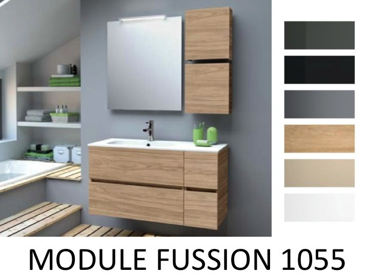 meubles lave mains robinetteries meuble sdb meuble de salle de bain 105 cm modulaire. Black Bedroom Furniture Sets. Home Design Ideas