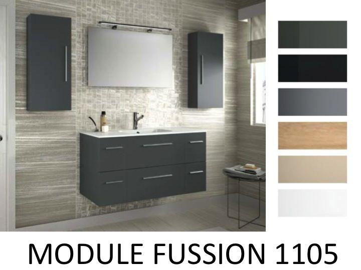 Meuble salle de bain chrom pictures to pin on pinterest for Meuble sdb 110
