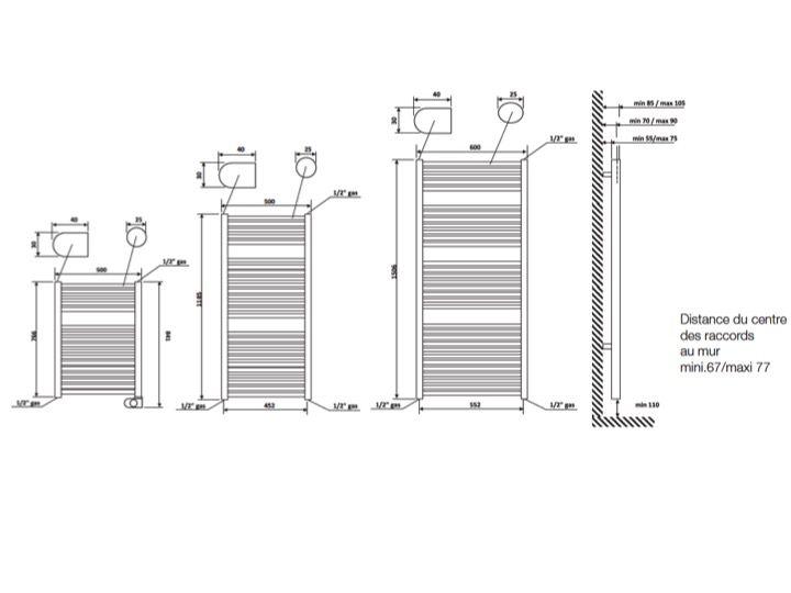 Meubles lave mains robinetteries s che serviettes radiateur s che serviet - Mini seche serviette electrique ...