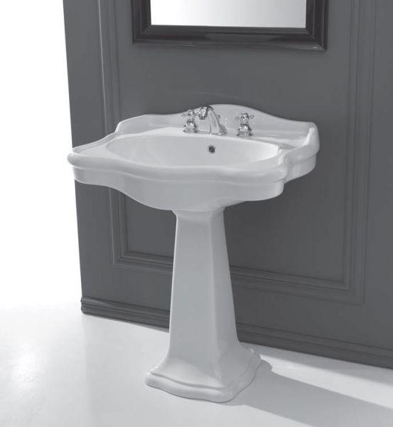 vasques accessoires lavabos r tro op ra c ramique blanc brillant. Black Bedroom Furniture Sets. Home Design Ideas