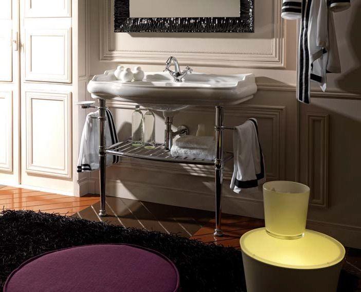 Vasques accessoires lavabos r tro paris c ramique blanc brillant - Lavabo retro salle de bain ...