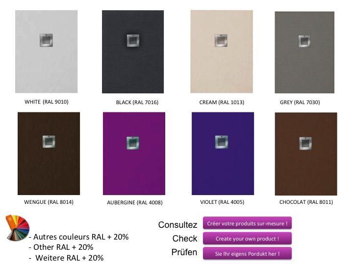 receveurs de douches longueur 160 receveur de douche en. Black Bedroom Furniture Sets. Home Design Ideas