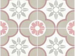 Flower pastel 20x20 carrelage imitation carreaux de - Gres cerame imitation carreaux ciment ...