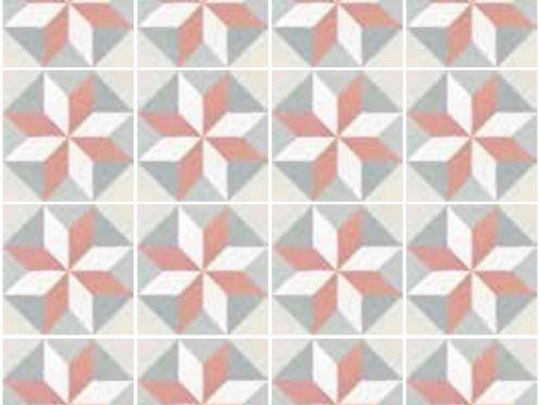 Carrelage sol et mur c ciment imitation art deco 5 pastel 20x20 carrelage imitation carreaux - Gres cerame imitation carreau de ciment ...
