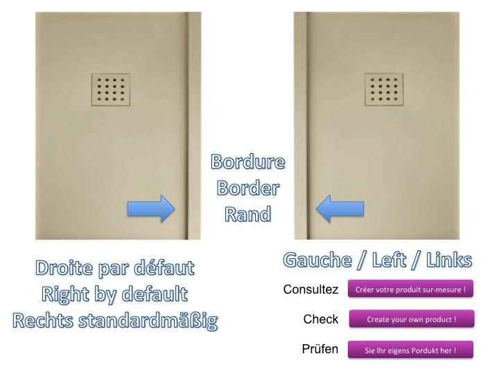 receveurs de douches longueur 170 receveur de douche 170 cm en r sine effet lisse sable. Black Bedroom Furniture Sets. Home Design Ideas