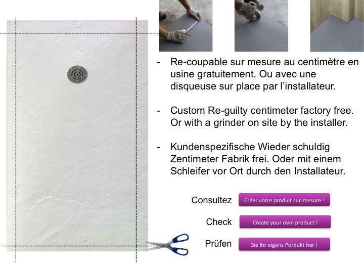 receveurs de douches longueur 100 receveur de douche 100 cm en r sine petit taille extra. Black Bedroom Furniture Sets. Home Design Ideas