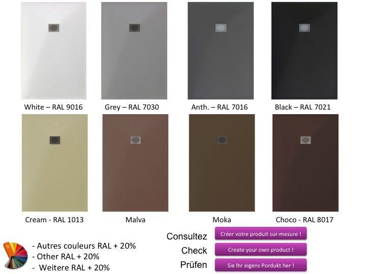 receveurs de douches longueur 65 receveur de douche 65. Black Bedroom Furniture Sets. Home Design Ideas