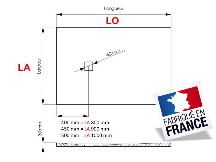 elegant receveur de douche cm en rsine bac douche luitalienne en with douche standard dimension - Douche Italienne Dimension1752