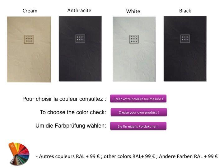 receveurs de douches longueur 100 receveur de douche 100 cm en r sine effet ardoise pizarra. Black Bedroom Furniture Sets. Home Design Ideas